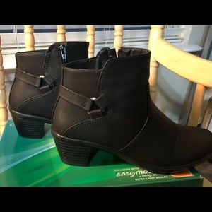 Easy Street Matte Black Ankle Boots